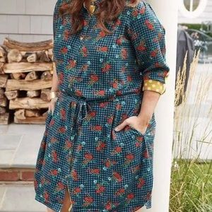 NWT! Matilda Jane Floral Plaid Shirt Dress
